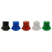 INSULATORS: POLYPROPYLENE LOW VOLTAGE - SEMI SKIRTED M8